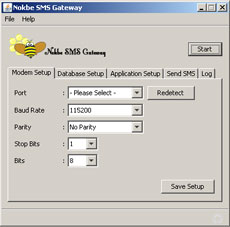 Nokbe SMS Gateway, communicate to Mobiles with SMS Message